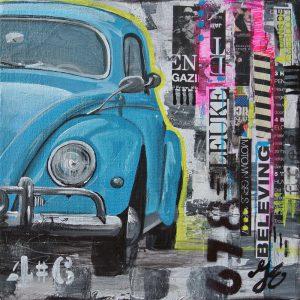 Beetle schilderij www.janetedens.nl