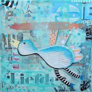 Kunstkaart Flying bird