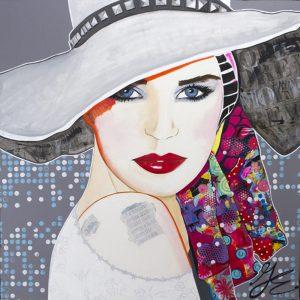 Kunstkaart Lady Color