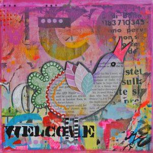 Kunstkaart happy Singin Bird 2
