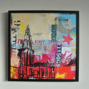 Martinitoren kunstposter in een lijst janet edens schilderijen shop