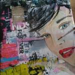 workshop mixed media portret schilderen Janet Edens Groningen in 1 dag schilderij maken