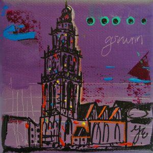 kleurrijk cadeau aandenken Groningen relatiegeschenk martinitoren