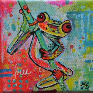kleurrijke dieren schilderijen janet edens