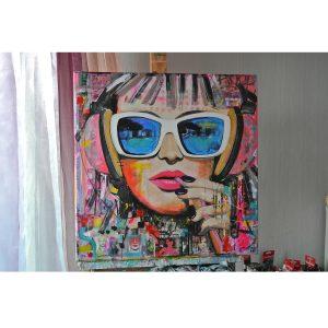 mixed media schilderijen kleurrijk modern janet edens