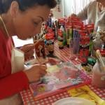 personeelsuitje, bedrijfsuitje of teamuitje mixed media schilderen bij Galerie23 in Noord Sleen door Janet Edens