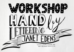 creatieve workshops voor personeelsuitje bedrijfsuitje teamuitje handlettering door Janet Edens