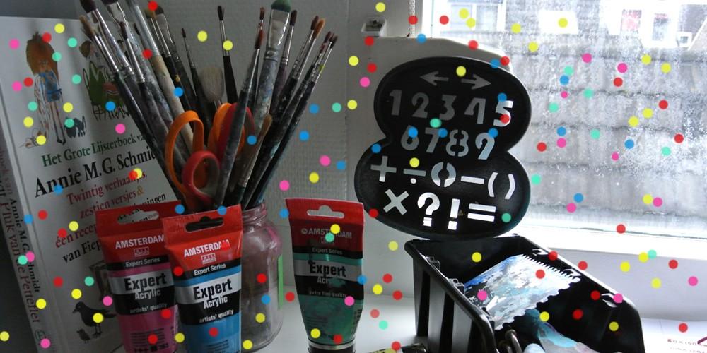 kinderfeestje vieren met kunst schilderen omgeving Groningen Janet Edens
