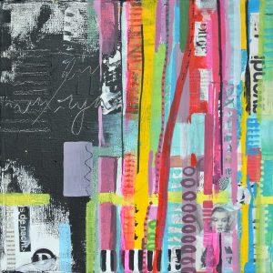 schilderijen vrolijk kleurrijk betaalbaar janet edens shop mixed media