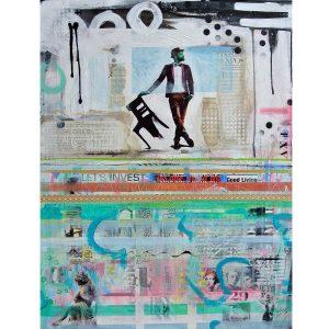 collage mixed media betaalbare kunst kunstwerk schilderij