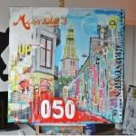 A-kerk Groningen schilderij mixed media Groningen