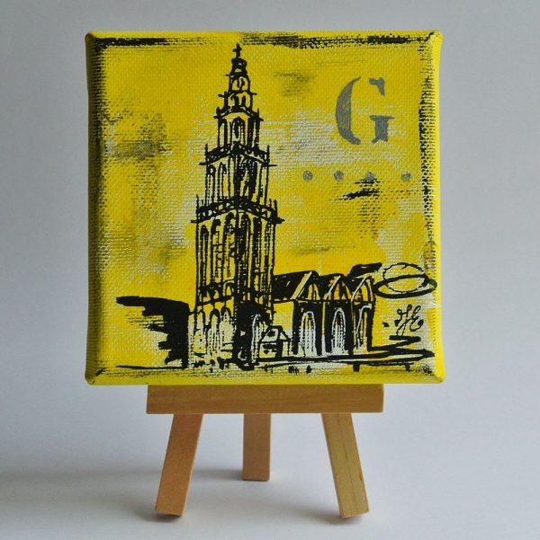 schilderijtje Martinitoren Groningen kopen