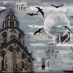 Martinitoren-Groningen-schilderij-collage-