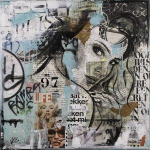 collage-vrouwengezicht-graffiti-collage-lichtblauw-zwartwit